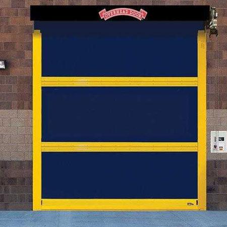 high speed fabric door